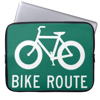 Fat Bike Route Laptop Sleeve