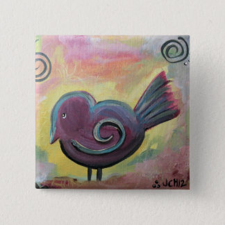 Fat Bird Artwork Pinback Button