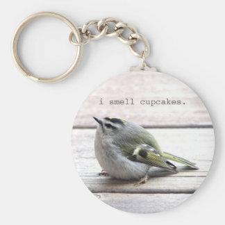 Fat Bird Basic Round Button Keychain