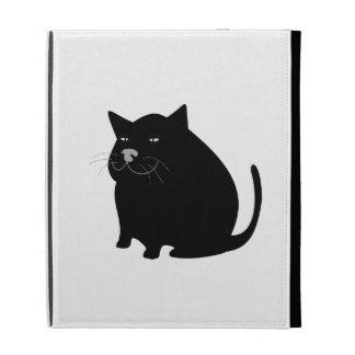 Fat Black Cat iPad Folio Case