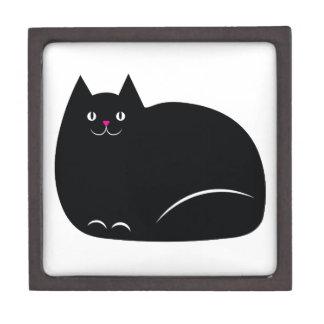 Fat Black Cat Gift Box