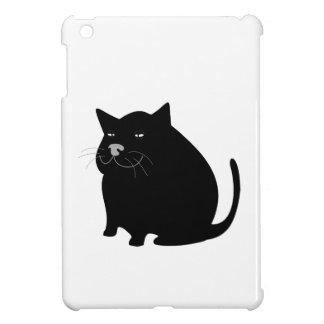 Fat Black Cat iPad Mini Cover