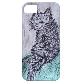 Fat black cat iPhone SE/5/5s case