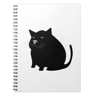 Fat Black Cat Spiral Note Book