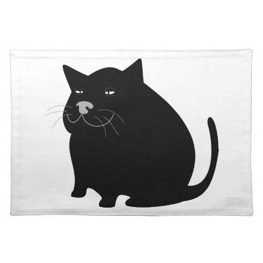 Fat Black Cat Placemats