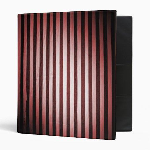 Fat Black & Red Stripes Binder