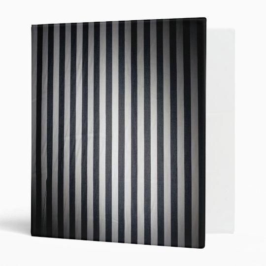 Fat Black & White Stripes Binder