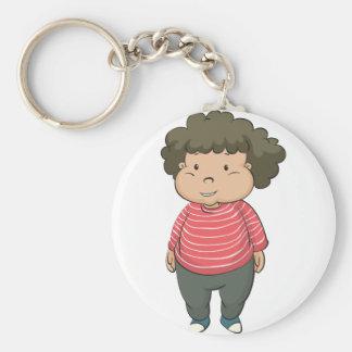 fat boy basic round button keychain