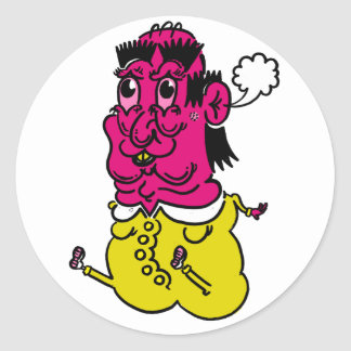 fat boy stickers! classic round sticker