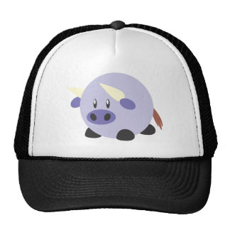 Fat Bull with a Round Body Trucker Hat