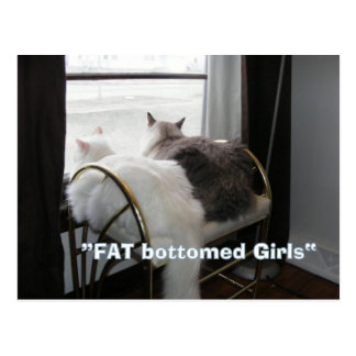 Fat Butt girls postcard