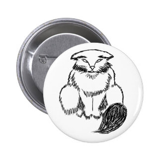 Fat Cat 2 Inch Round Button