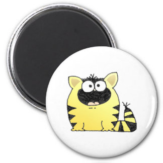 Fat Cat 2 Inch Round Magnet