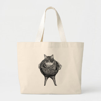 Fat Cat Banker Large Tote Bag