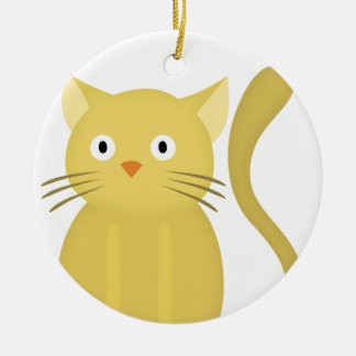 fat cat ceramic ornament