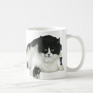 Fat Cat Classic White Coffee Mug