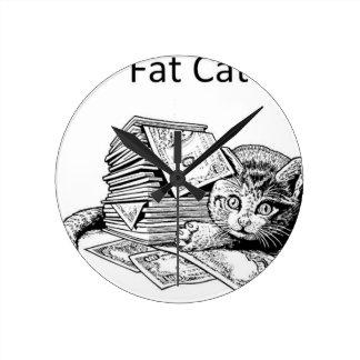 Fat Cat Round Wallclocks