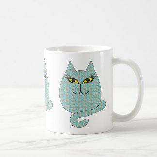 Fat Cat Coffee Mug White