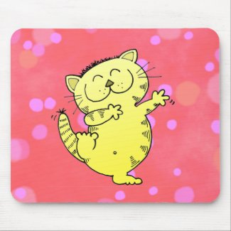 Fat Cat Dance mousepad