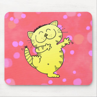 Fat Cat Dance Mouse Pad