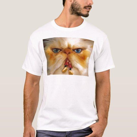 Fat cat eating T-Shirt