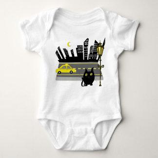 Fat Cat in the City infant snapsuit bodysuit kids