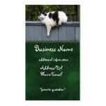 Fat Cat On Fence Double-Sided Standard Business Cards (Pack Of 100)