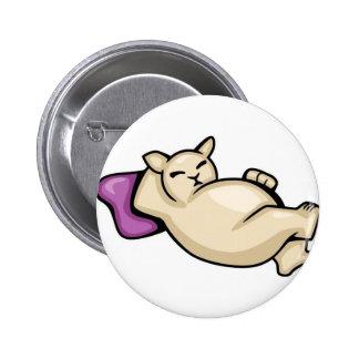 Fat Cat on Pillow Button