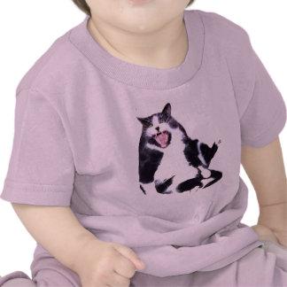 fat cat on shirt