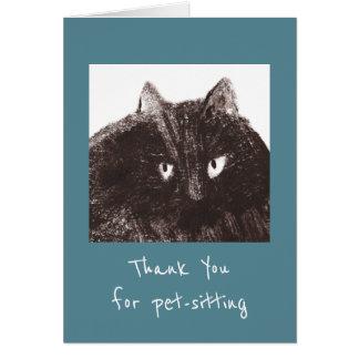 Fat Cat Pet-Sitter Thank You Card