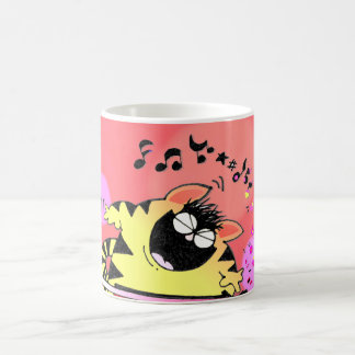 Fat Cat Play Keyboard Coffee Mug