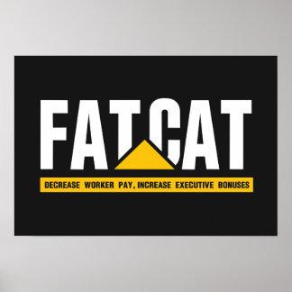 Fat Cat Poster