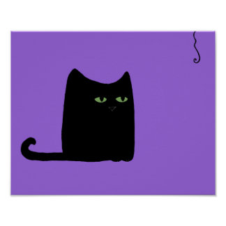 Fat Cat Purple Print (customizable)