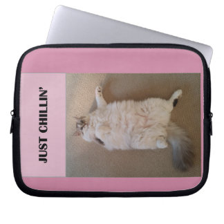 Fat Cat Relaxing - Laptop Sleeve