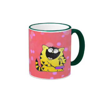 Fat cat ringer coffee mug
