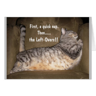 FAT CAT, taking a nap Card