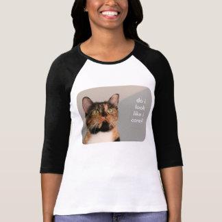 Fat Cat w Attitude, do i look like i care? Tshirts