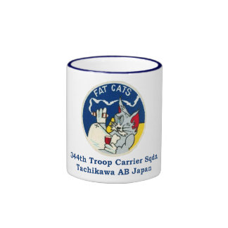Fat Cats 344th TCS Tachikawa AB Japan Ringer Mug