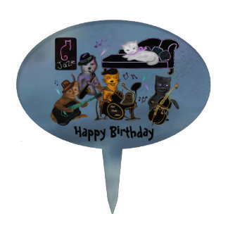 Fat Cats Birthday Jam Cake Pick