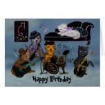 Fat Cats Birthday Jam Greeting Cards