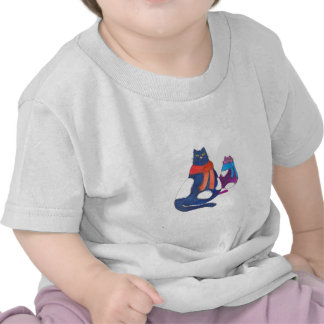 Fat Cats in Scarves T Shirt