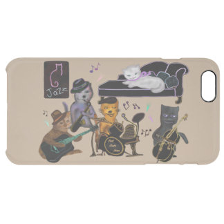 Fat Cats Jam Clear iPhone 6 Plus Case