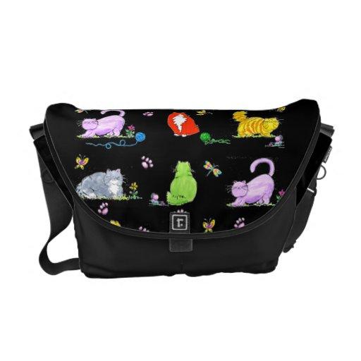 Fat Cats - messenger bag