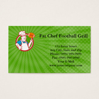 Fat Chef Football Grill Business Card
