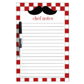 Fat Chef Mustache Dry Erase Board