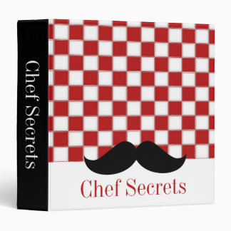 Fat Chef Mustache Recipe Binder