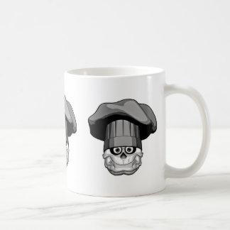 Fat Chef Skull Coffee Mug