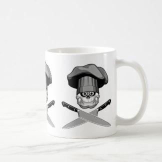Fat Chef Skull v2 Mugs