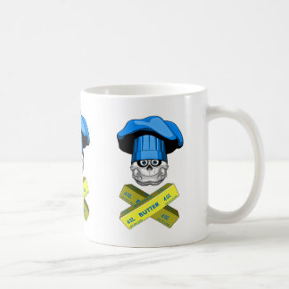 Fat Chef Skull v3 Coffee Mugs