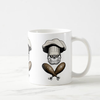 Fat Chef Skull v5 Coffee Mugs